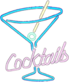 Cocktails Neon Sign on White Matte.png